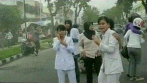People on street in Padang