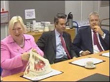 Edwina Hart, Huw Lewis and Carwyn Jones
