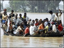 Flood victims in the Indian state of Bihar