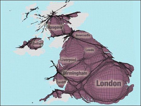 UK cartogram