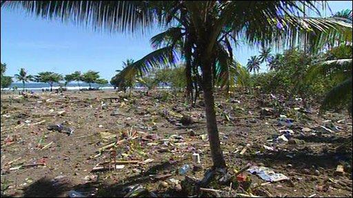 Devastation on Samoa