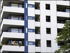 Block of flats where the body parts of four babies were found, Berlin, Germany, 1 October 2009