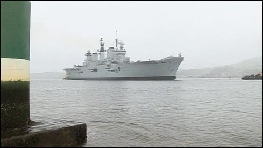 Ship involved in Nato exercise