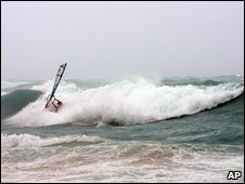 Windsurfer in Bermuda