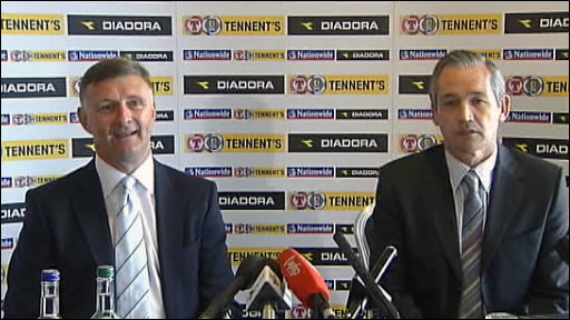 Scotland coach Paul Hegarty and manager George Burley