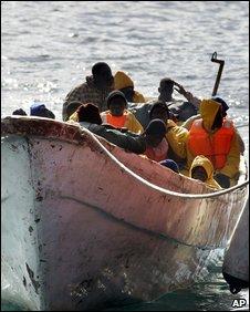 African migrants off Tenerife