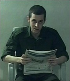 Gilad Shalit in the video released by Hamas