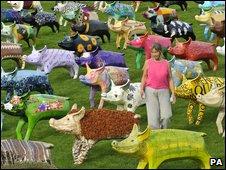 King Bladud's Pigs in Bath by Ben Birchall/PA