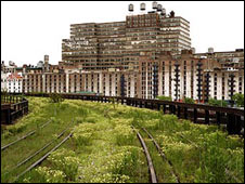 Section of overgrown railway line