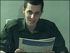 File photo of Gilad Shalit in a video by Hamas