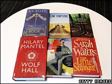 The six shortlisted books