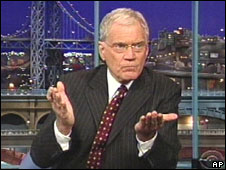 David Letterman breaks the news on his show, 1 Oct 2009