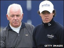 Gerry (left) and Rory McIlroy (right)