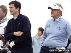 Tim Henman (left) and Colin Montgomerie (right)