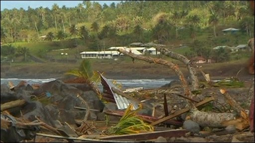 Destruction on Samoa