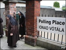 Nuns cast their vote in Drumcondra, Dublin