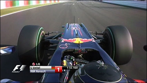 Sebastien Vettel in-car camera