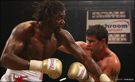 Audley Harrison and Coleman Barrett