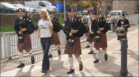 Olivia Giles and pipers