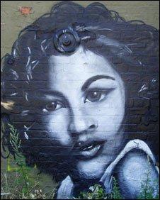 Graffiti mural in North East Lincolnshire