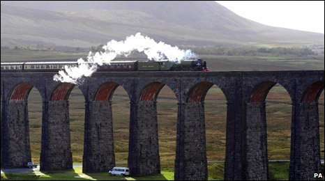 The Tornado on Ribblehead Viaduct