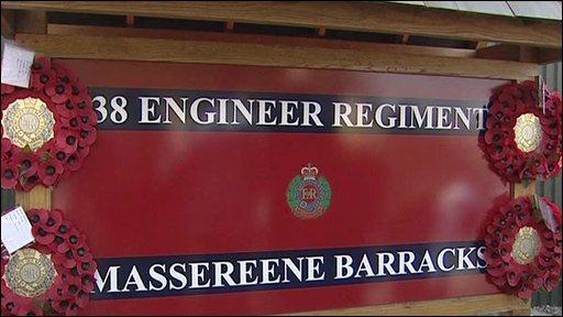 Regiment sign