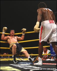 Coleman Barrett's great run was ended by Audley Harrison in the Prizefighter final