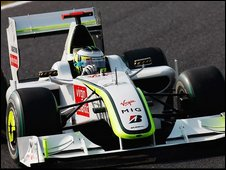 The Brawn car that swept to the world title in the team's debut year