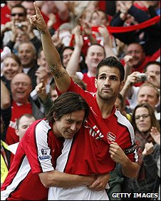 Tomas Rosicky and Cesc Fabregas
