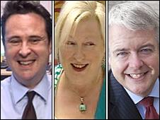 Huw Lewis, Edwina Hart and Carwyn Jones