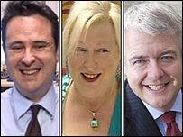 Huw Lewis, Edwina Hart a Carwyn Jones