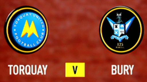 Torquay 1-1 Bury