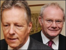Peter Robinson (left) and Martin McGuinness