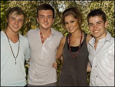 Lloyd Daniels, Rikki Loney, Cheryl Cole and Joseph McElderry