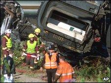 Scene of Paddington rail crash