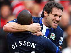 David Dunn scored a breakaway goal to give Blackburn a 2-1 lead