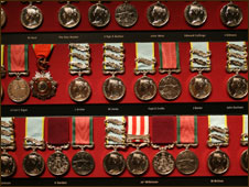 All medals donated to the museum are displayed in their medals room
