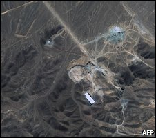 Aerial view of suspected nuclear site at Qom, Iran