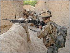 British soldier in Afghnistan