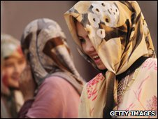 Women in China's Xinjiang province