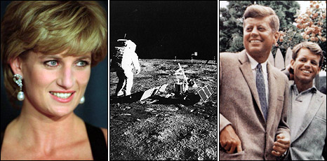 Princess Diana, the Moon landing, the Kennedys