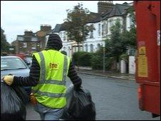 Bin man in Fulham, south London