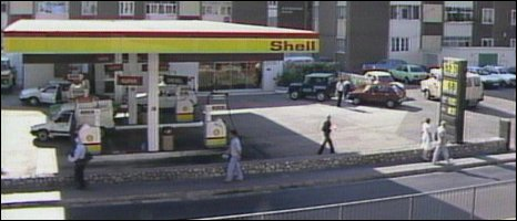 Petrol station in Gibraltar where two of the three IRA members were killed