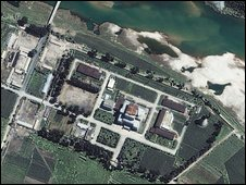 Satellite image of North Korea's Yongbyon nuclear plant - file photo from 2002