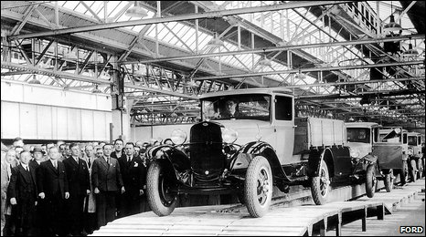 Production line at Ford Dagenham