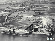 Aerial view of Dagenham site in 1935