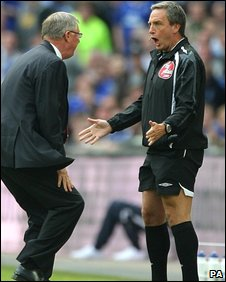 Sir Alex Ferguson and Alan Wiley clash in April