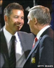 Darren Ferguson and dad Sir Alex