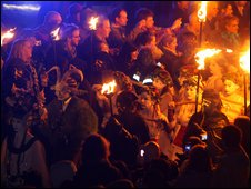 Beltane procession. Photo courtesy of Stuart Barrett