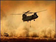 A British Chinook helicopter in Afghanistan